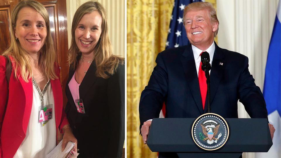 Finnland: Trump verwechselt zwei blonde Journalistinnen