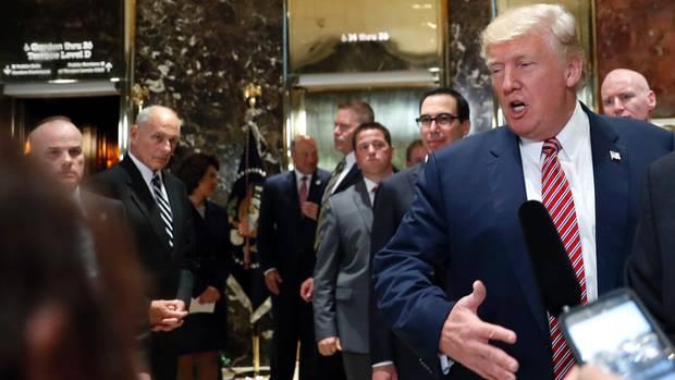 Stabschef John Kelly kann bei den Tiraden des Präsidenten nur hilflos zuschauen