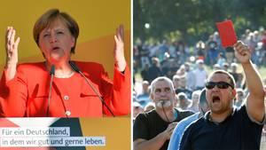 AfD mobilisiert: Bitterfelds feindseliger Empfang für Merkel