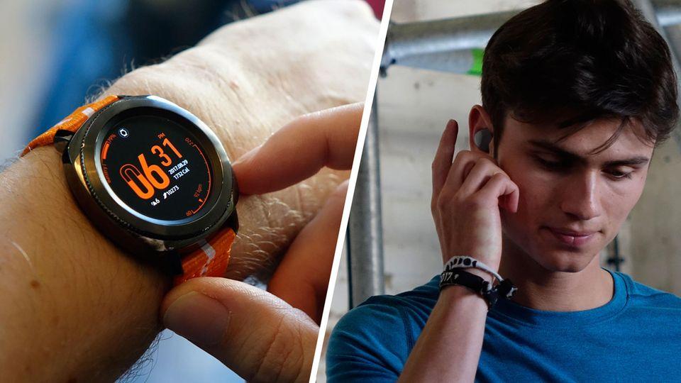 Smartwatch und Bluetooth-Kopfhörer: Samsungs neue Fitness-Geräte: Sport frei