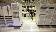 Großrechner des BKA in Wiesbaden - möglicherweise speichert die Behörde illegal über eine Million Datensätze (Archivbild)