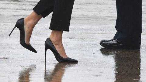 """Für die einen """"hot"""", für die anderen ein völliger Fehlgriff: Melania Trumps High Heels"""