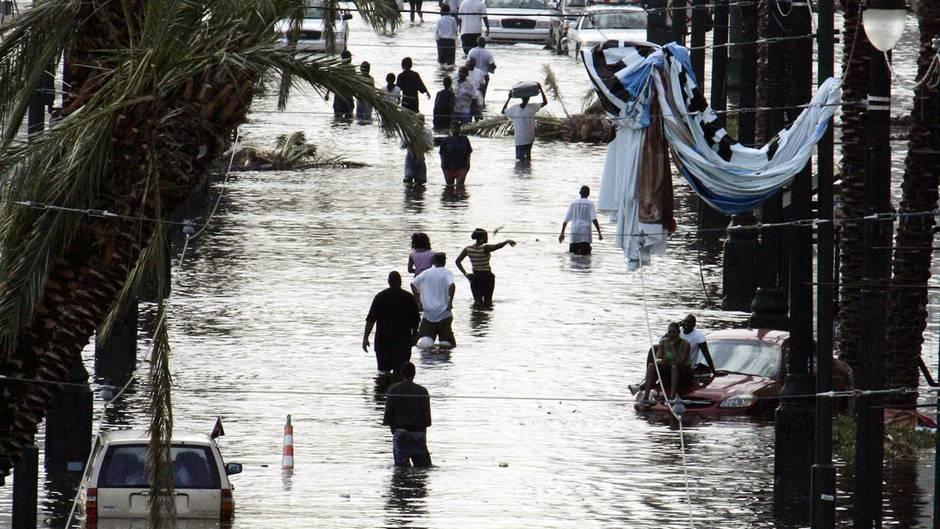 Folgen des Hurricane Katrina aus dem Jahre 2005 in New Orleans (Louisiana)