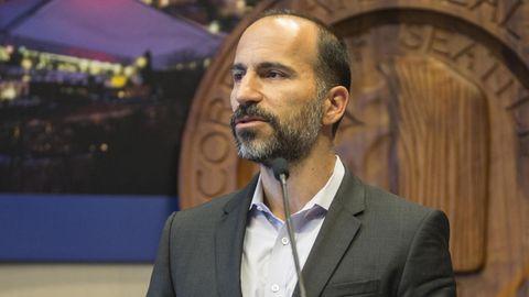 Der neue Uber-Chef Dara Khosrowshari bei einem öffentlichen Auftritt