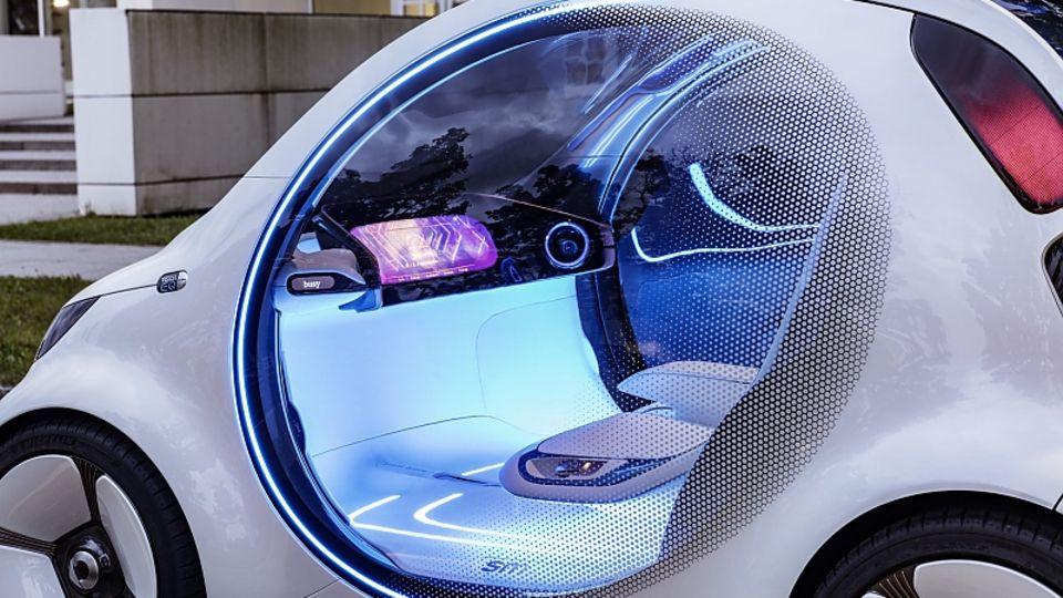 Smart Vision EQ Fortwo - ein Cockpit ohne Pedale oder Lenkrad