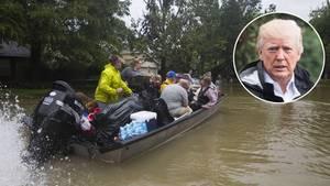 Donald Trump - in der Houston-Flut versinkt nicht nur die Stadt