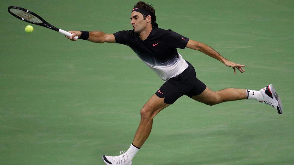 Roger Federer, hier bei seinem Sieg in der ersten Runde der US Open in New York gegen den US-Profi Frances Tiafoe