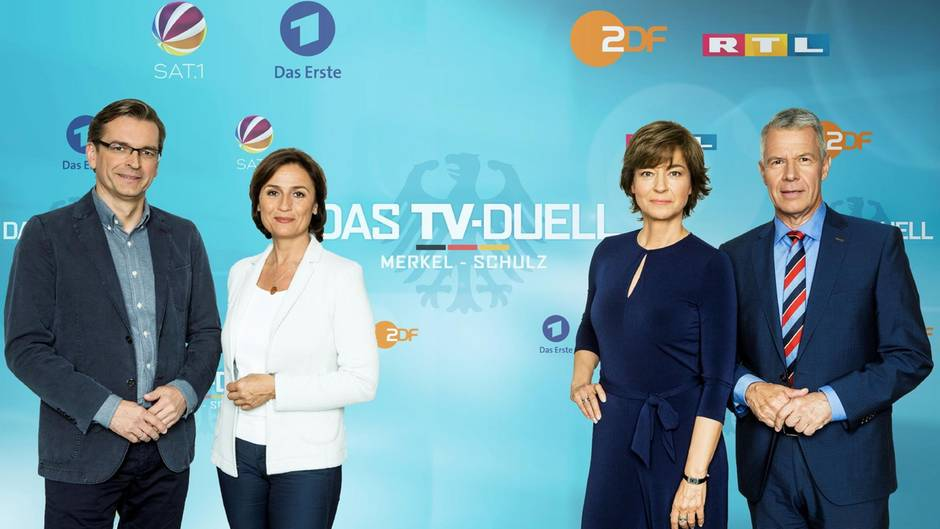 """""""Das TV-Duell"""" zur Wahl: Diese Vier sollen Merkel und Schulz in Bedrängnis bringen"""