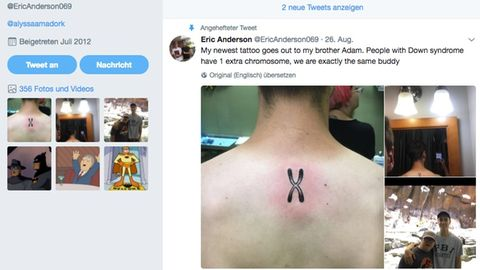 Twitter-User zeigt ein Bild von seinem Chromosom-Tattoo