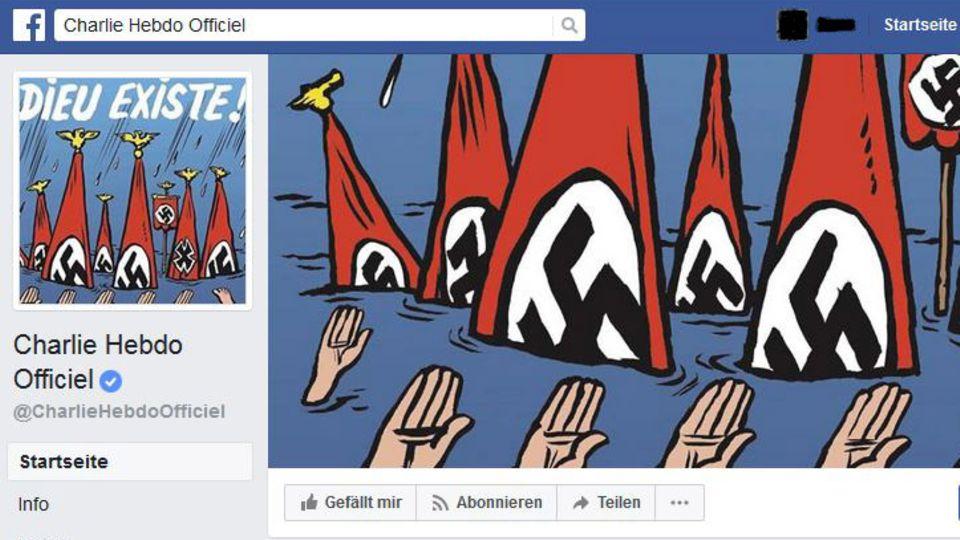 "Hurrikan Harvey in Texas: ""Charlie Hebdo"" provoziert mit Neonazi-Cover zu Flutopfern"