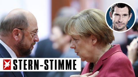 Angela Merkel gegen Marin Schulz