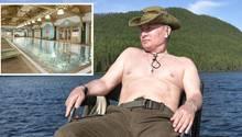 Wladimir Putin bei einem Kurzurlaub in den Bergen der russischen Republik Tuwa