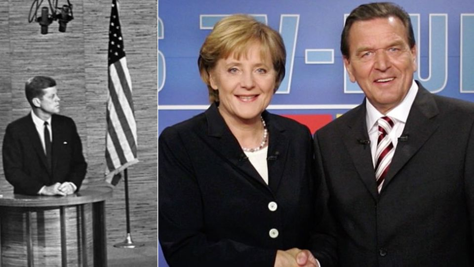 Kennedy, Merkel, Schröder: Fakten zum TV-Duell