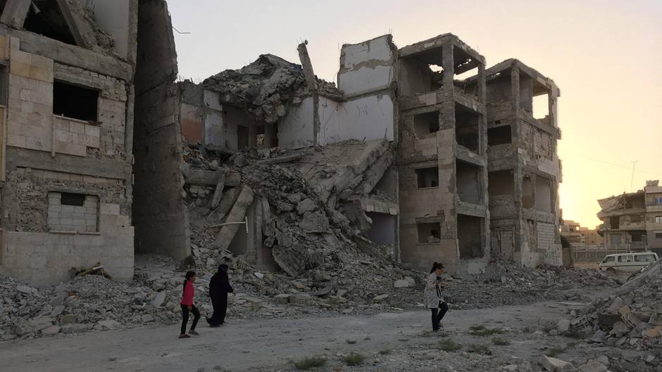 Krieg in Syrien: Ein Blick in die IS-Hauptstadt: Leeres Rakka