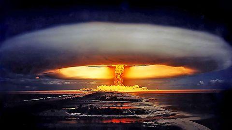 Explosion der ersten französischen Wasserstoffbombe.