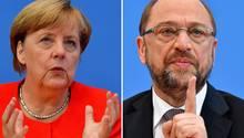 Angela Merkel gegen Martin Schulz: Wen finden Sie im TV-Duell überzeugender?