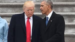 Nach der Amtsübergabe hinterließ Barack Obama Nachfolger Donald Trump einen Brief