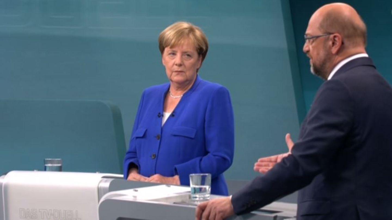 Angela Merkel und Martin Schulz im TV-Duell