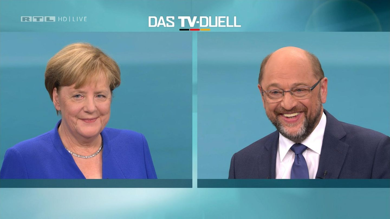 Angela Merkel und Martin Schulz: Lachen, nicken - und viel Einigkeit?
