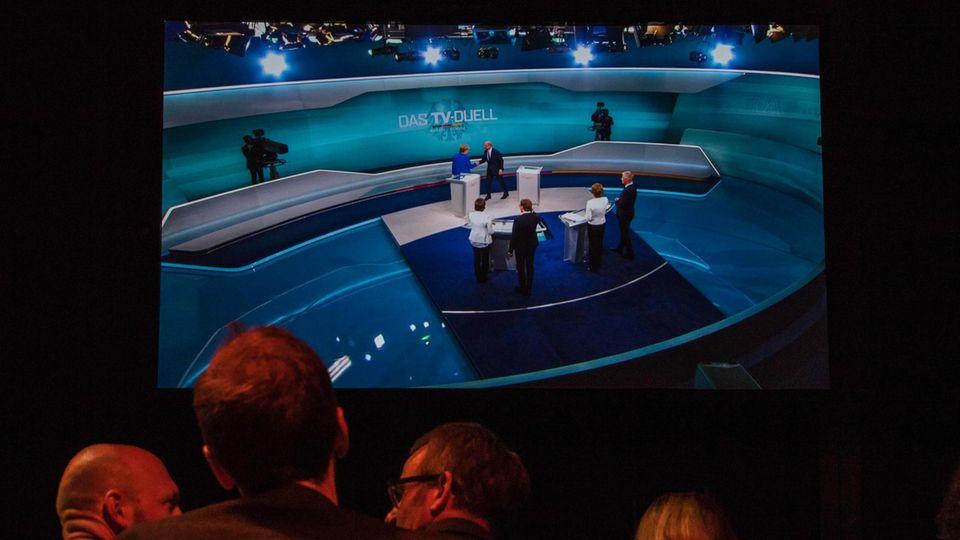 TV-Duell: Die meisten Zuschauer des Duells fanden laut Umfragen die Kanzlerin überzeugender