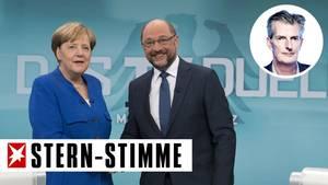 Angela Merkel gegen Martin Schulz beim TV-Duell