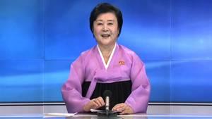 Wenn Nordkorea Wichtiges zu verkünden hat, taucht sie auf den TV-Bildschirmen auf: Ri Chun Hee