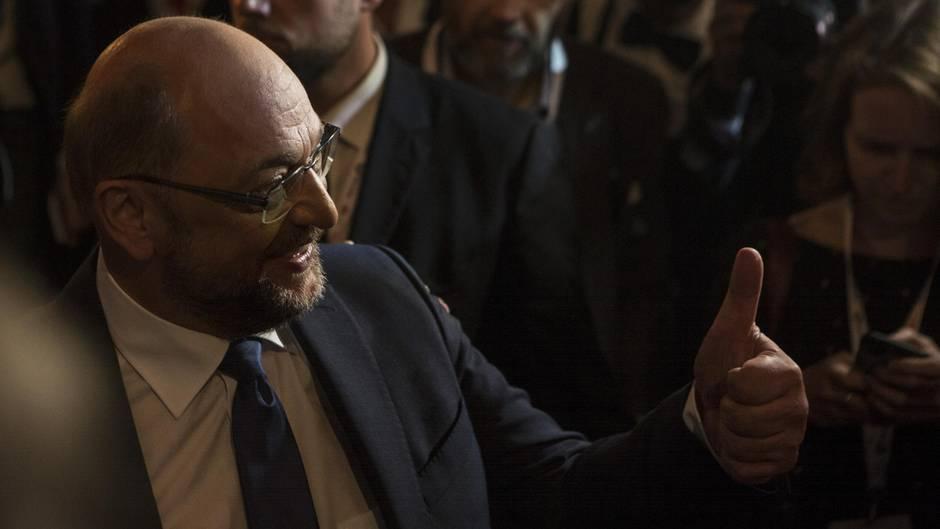 Beim TV-Duell wollte Martin Schulz zeigen, dass er mehr ist als die nette Nummer 2