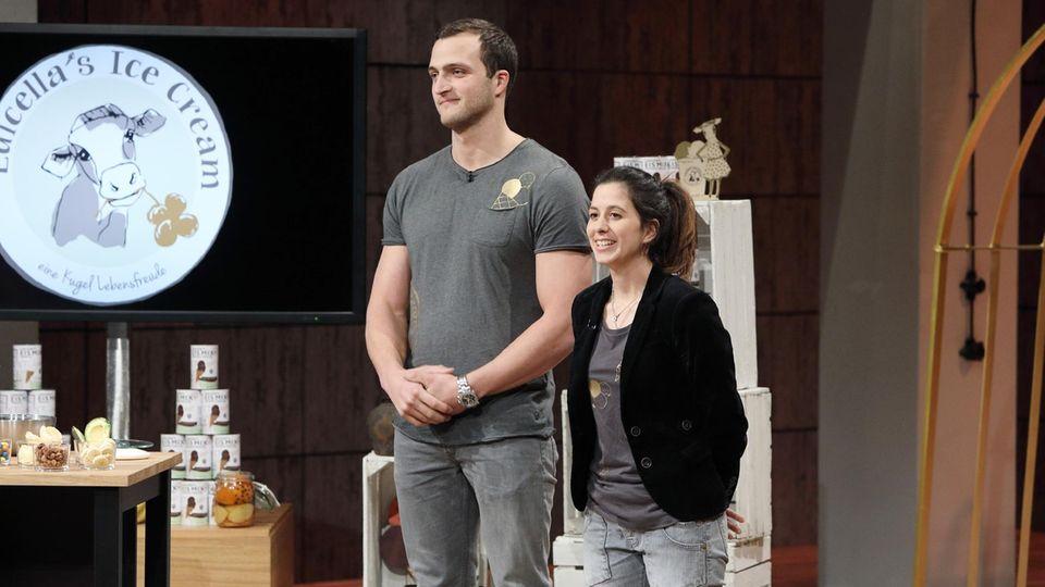 """""""Luicella's Ice Cream"""": Die Gründer Markus Deibler (links) und Luisa Mentele wollen mit ihrem Eis national, am liebsten sogar international, bekannt werden."""