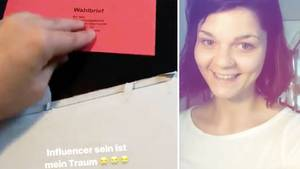 Influencerin Wahlbrief Twitter Unboxing