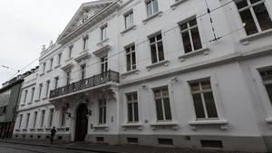 Außenaufnahme des Landgerichts in Freiburg