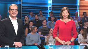 """Verkehrsminister Alexander Dobrindt und Grünen-Chefin Katrin Göring-Eckardt in der ZDF-Sendung """"Schlagabtausch"""""""