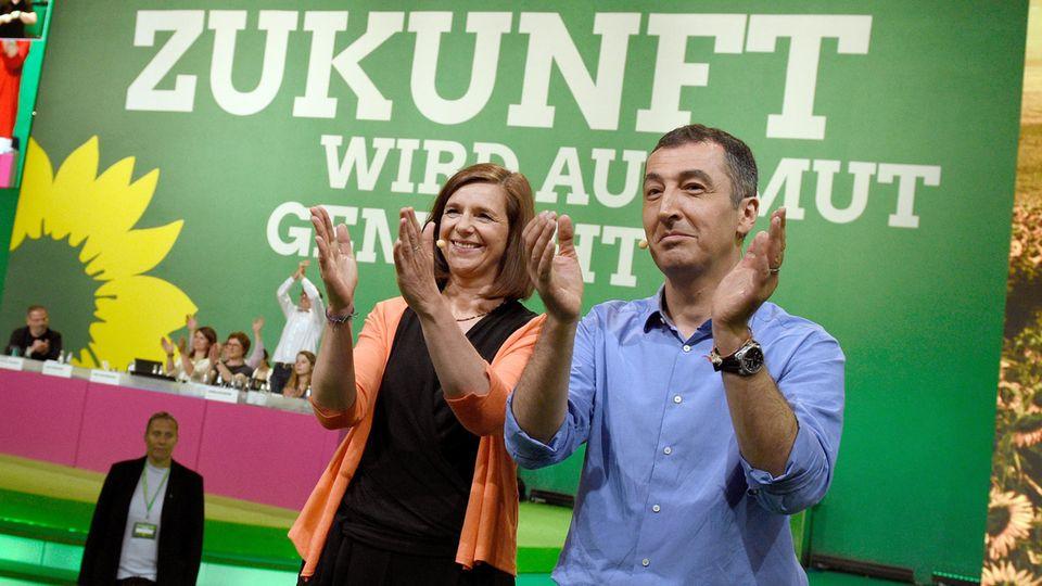Die Spitzenkandidaten der Grünen: Katrin Göring-Eckardt und Cem Özdemir