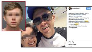 Matthew James Phelps (l. und r.) steht im Verdacht, seine Frau (M.) erstochen zu haben