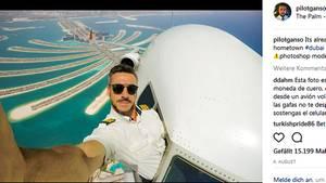 Hoch über der Palme Jumeirah in Dubai