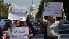 Protest gegen Aus von Dreamers