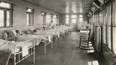 Blick in die Kinderabteilung des Quarantänekrankenhauses in den 1930er Jahren