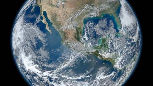 Weltkugel von der ISS aus