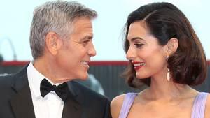 US-Schauspieler George Clooney und seine Frau Amal