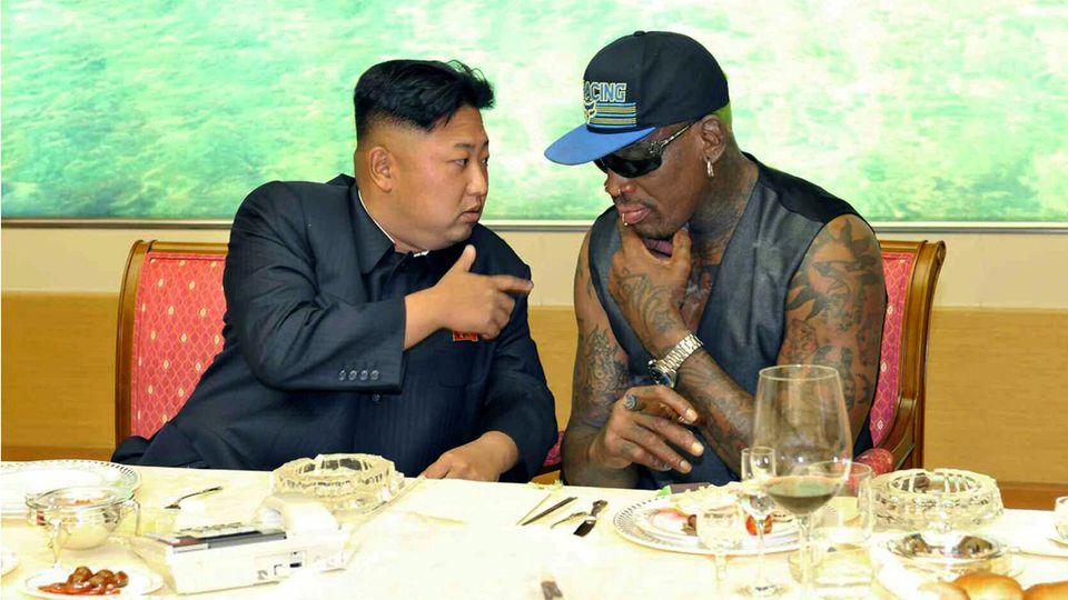 Dennis Rodman und Kim Jong Un