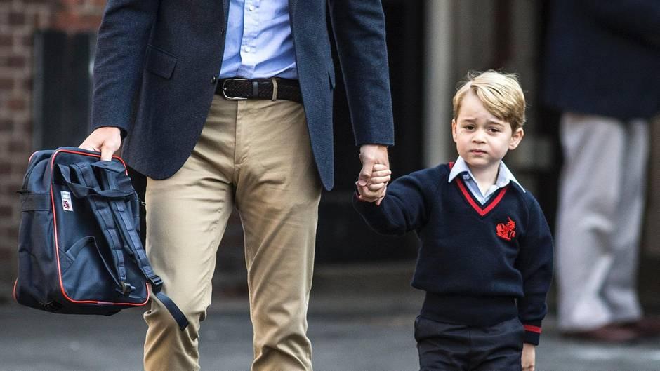 Prinz George und Prinz William werden eingeschult