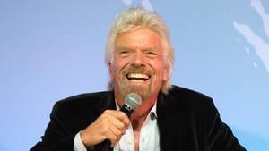 Sir Richard Branson auf einem Presseevent