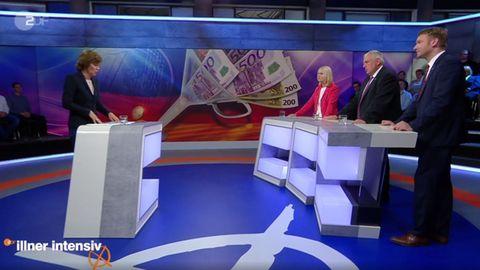 Maybrit Illners Gäste waren Manuela Schwesig (SPD), Karl-Josef Laumann (CDU) und André Poggenburg (AfD)