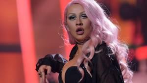 Christina Aguilera bei einem Auftritt in Moscow 2016