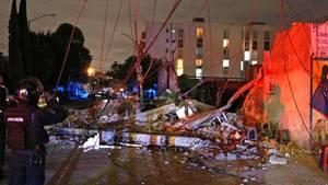 Trümmer in Mexiko-Stadt: Selbst in 700 Kilometer Entfernung zum Epizentrum stürzten Häuser ein.