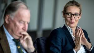 Alice Weidel und Alexander Gauland, Spitzenkandidaten der AfD