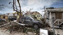 """Die niederländische Karibikinsel Sint Maarten wurde von Hurrikan """"Irma"""" schwer verwüstet"""