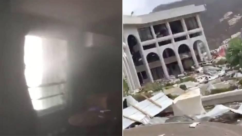 """Hurrikan """"Irma"""" über den Britischen Jungferninseln: Segler dokumentiert Zerstörung von Haus durch Supersturm"""