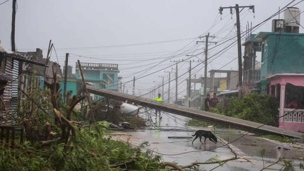 """Hurrikan """"Irma"""" richtete in der kubanischen Stadt Cibarien erhebliche Schäden an"""