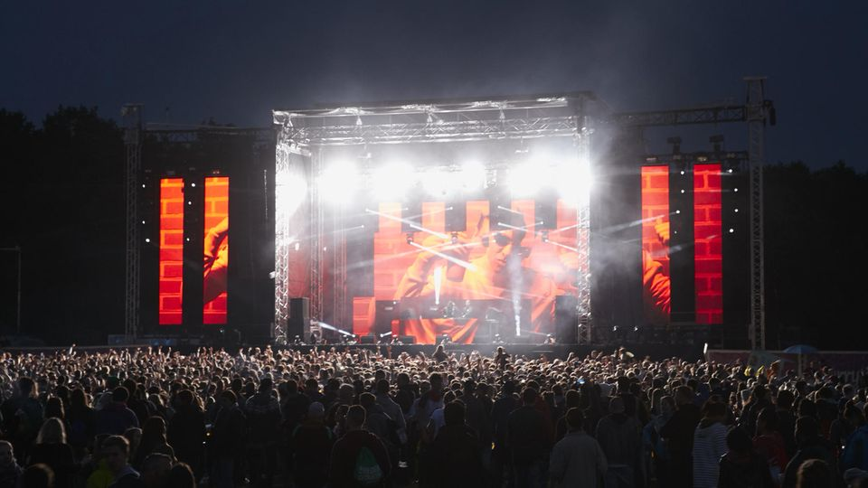 """Da war die Stimmung noch gut: Das """"Lollapalooza""""-Festival in Berlin am Samstagabend"""