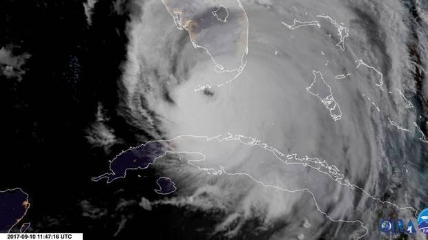 """Das Auge von Hurrikan """"Irma"""" hat inzwischen Florida erreicht"""